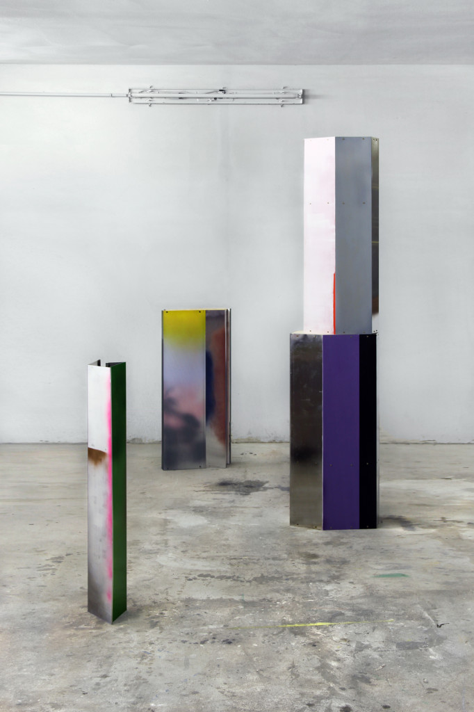 cristiano tassinari, Displayers, painted iron, variable sizes, 2010-2013