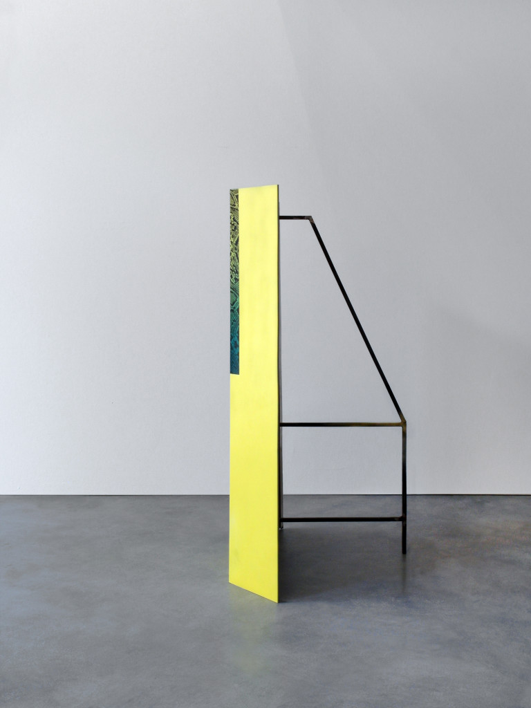 displayer, 2017, 100 x waterprint and spray on aluminum, iron final