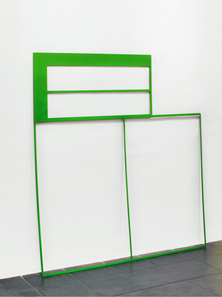 cristiano tassinari Green grid, 2012, painted iron 120 x 120 x 0,5